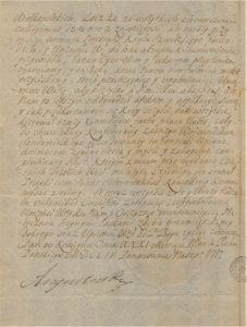 List Króla August II do Stanisława Konopackiego Wielmożnego Kasztelana Chełmińskiego2 jednostka 442