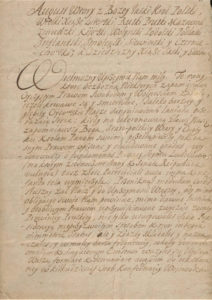 List Króla August II do Stanisława Konopackiego Wielmożnego Kasztelana Chełmińskiegojednostka 442