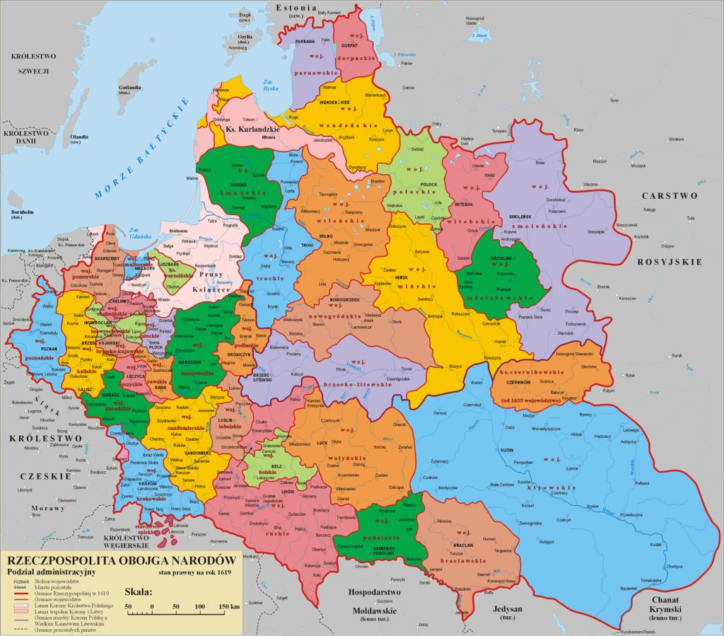 Rzeczpospolita Obojga Narodów Mapa Sytuacyjna Faktów Historycznych