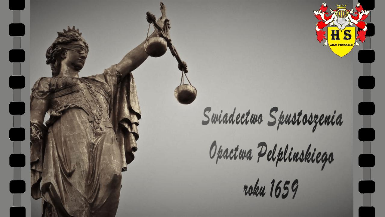 Zeznanie Podatkowe Pelplin czas Potopu Szwedzkiego 1659 roku