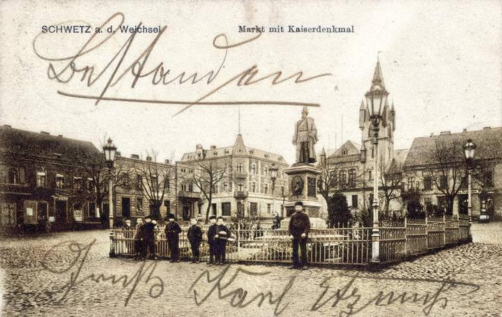 Świecie Markt mit Kaiserdenkmal