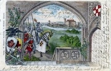 Świecie Zamek kartka okolicznościowa