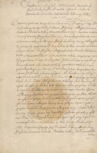Magdalena Korwin Gosiewska Cesja Starostwa Wieliskiego 1665 roku 1