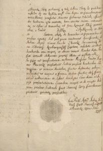 Obdukcja sądowa pobitego leśnego dworskiego 1715 rok 2