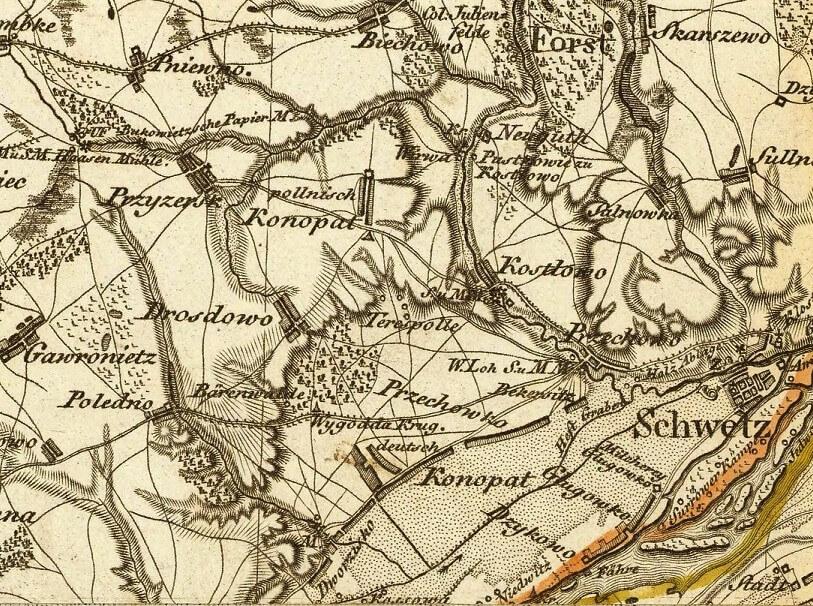 Historia Polskiego Konopatu czasem i sumariuszami pisana- mapa z 1803 roku