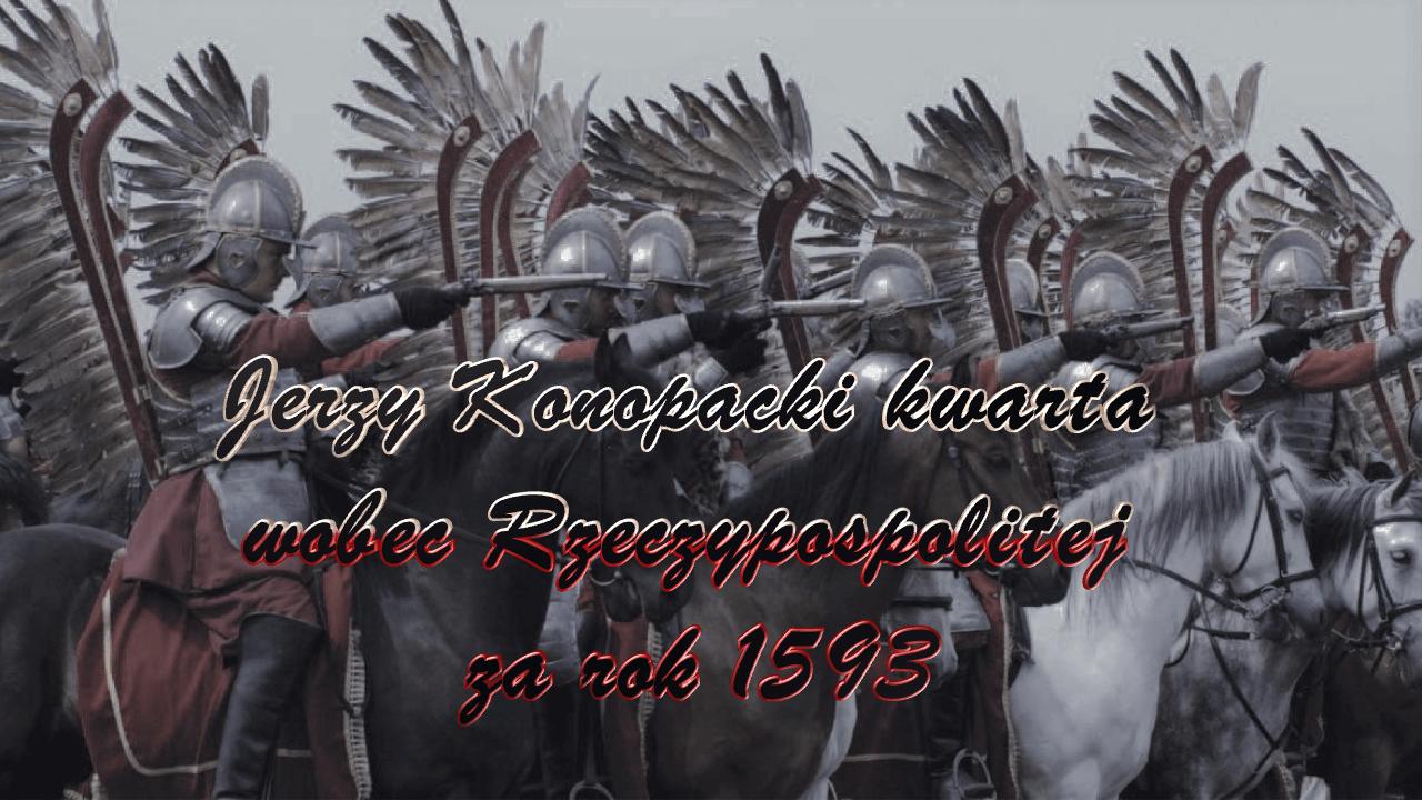 Jerzy Konopacki kwarta wobec Rzeczypospolitej za rok 1593