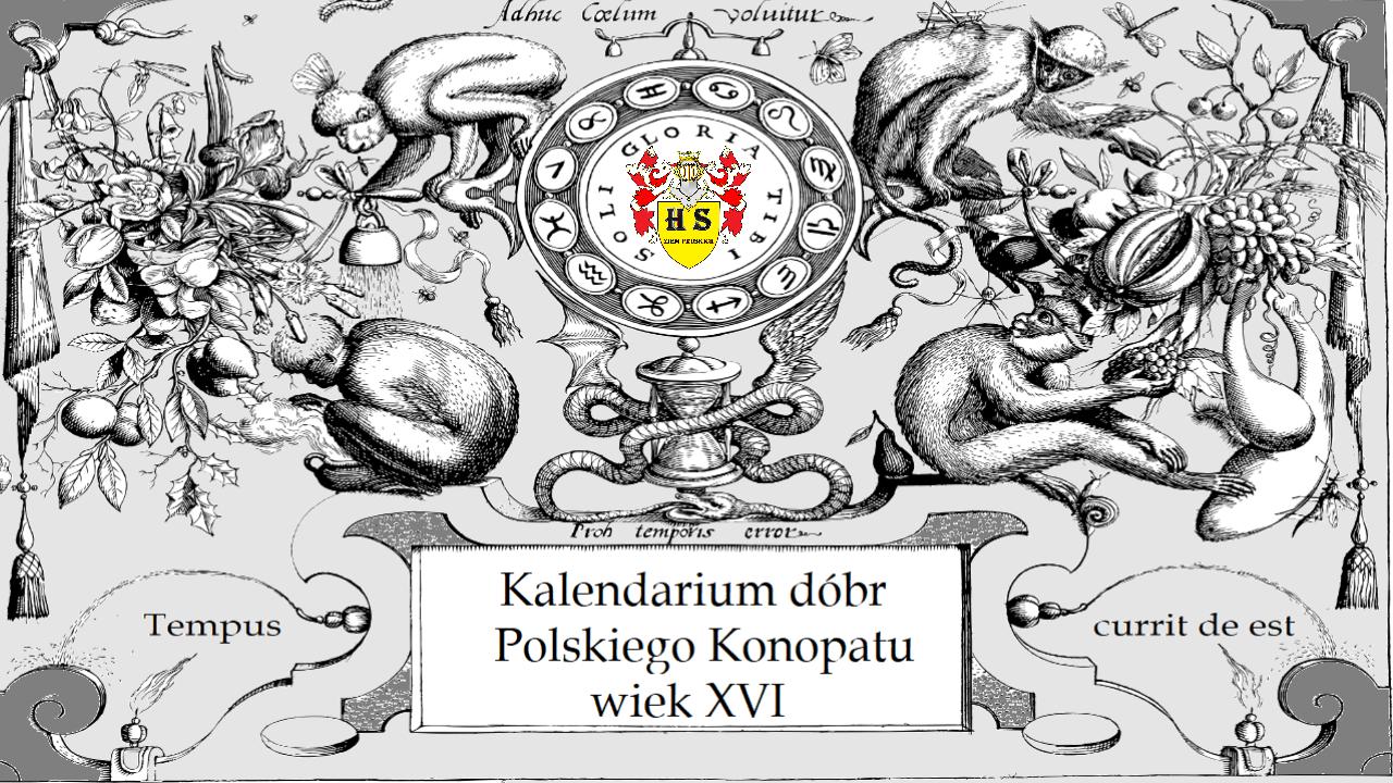Kalendarium dóbr Polskiego Konopatu wiek XVI