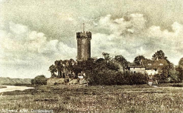 Widok na Zamek w Świeciu