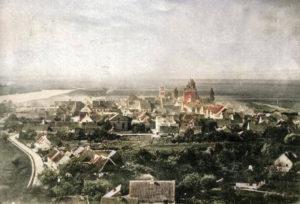Widok na stare miasto z wieży zamkowej