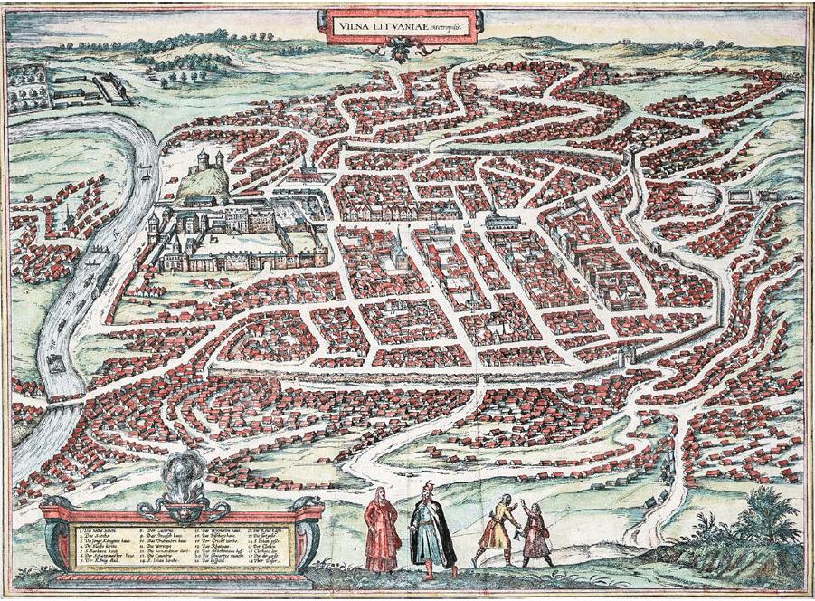 Wilno 1581 Georg Braun