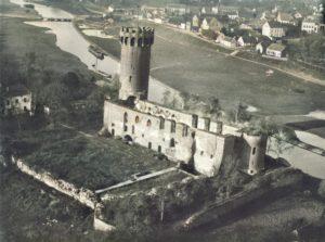 Zamek Krzyżacki w Świeci z lotu ptaka