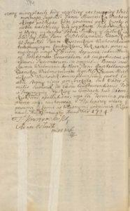 Teresa Konopacka zastawia Mirowice i Sadłuki 1724 rok
