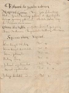 Inwentarz Folwarku Bruchnal 1609 roku dokonany