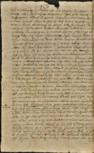 Ugoda podziału majątku Polski Konopat 1715 roku zawarta