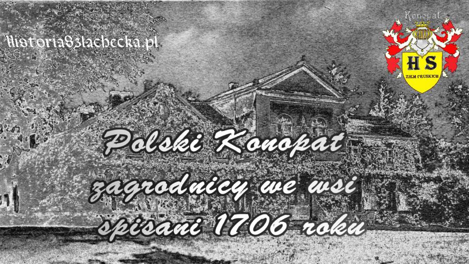 Polski Konopat spis zagrodników w 1706 roku