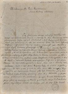 List Trembeckiego do Konstantego Kruszyńskiego 1780 roku