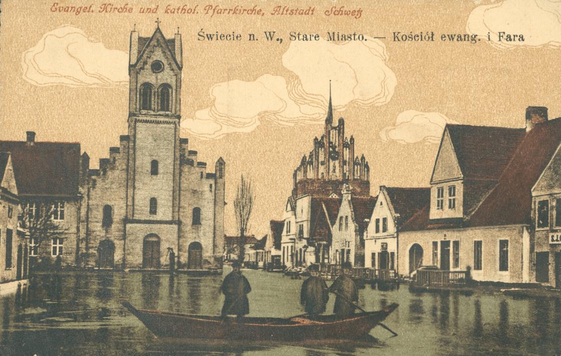 Rynek Starego miasta podczas powodzi