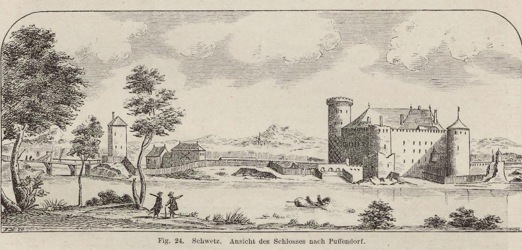Zamek w Świeciu w czasach swojej świetności rozbudowany ok. 1650 rok E.DAHLBERG