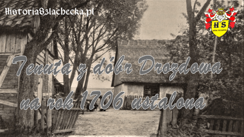 Tenuta z dóbr Drozdowa na rok 1706 ustalona