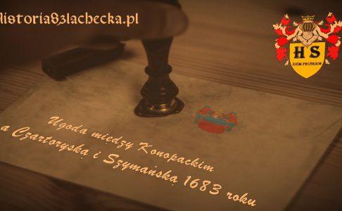 Ugoda między Konopackim a Czartoryską i Szymańską 1683 roku