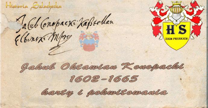 Jakub Oktawian Konopacki karty i pokwitowania