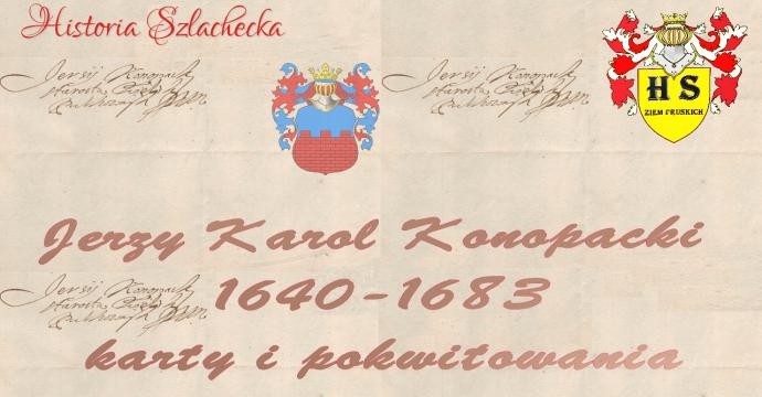 Jerzy Karol Konopacki karty i pokwitowania