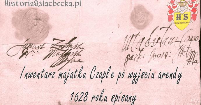 Inwentarz Czapel w powiecie świeckim w 1628 roku opisany