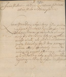 Ponaglenie zapłaty za Starostwo Nowskie 1701 rok