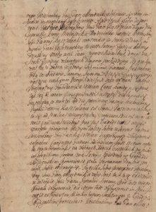 Kontrakt przedślubny Konopackiego z Kruszyńskim 1704 rok